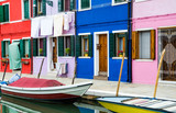 Burano channel and colorful houses, Venice