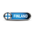 Finland flag button metal