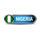 nigeria flag gel metal button