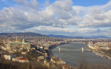 View of Buda Castle district and Dunabe river in Budapest