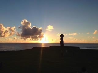 sunset Rapa Nui Easter Island