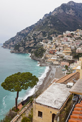 Town of Positano, Amalfi Coast, Italy