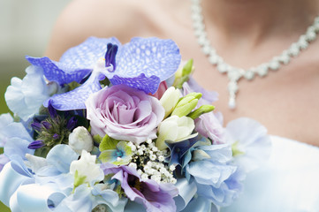 wedding bouquet and bride