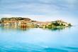 Elba island, Portoferraio village harbor and skyline. Tuscany, I