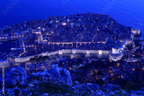 Night view of Dubrovnik, Croatia