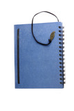 Cover blue notebook.