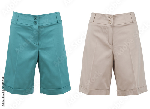 Man's wear - shorts isolated over white background