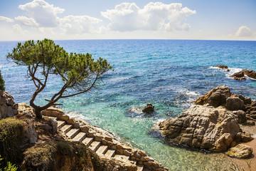 Platja d'Aro beach, Costa Brava, Catalonia, Spain.
