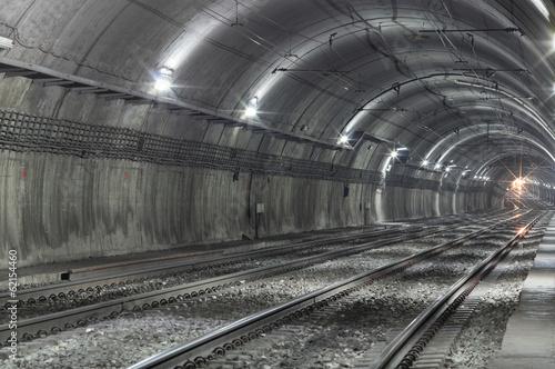 Empty Subway Tunnel - 62154460