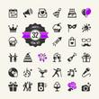 Obrazy na płótnie, fototapety, zdjęcia, fotoobrazy drukowane : Web icon set Party, Birthday, celebration