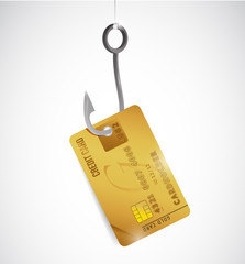credit card and hook illustration design
