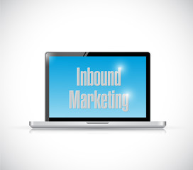 inbound marketing laptop illustration design