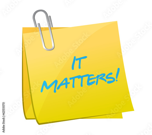 it matters post message illustration design
