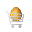 shopping cart eggs illustration design