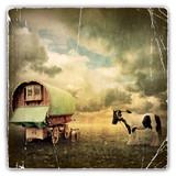 Fototapety Gypsy Wagon, Caravan