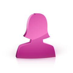 icône profil femme