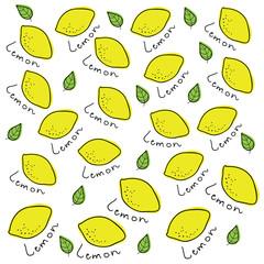 Vector background made of lemons