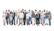 Group of World Multiethnic Business People on White Background