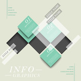 abstract square tag infographics