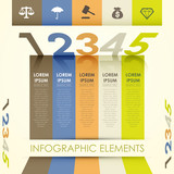 3d abstract origami banner infographics