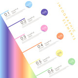 abstract infographics with linear gradient