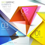 colorful transparent style abstract infographics