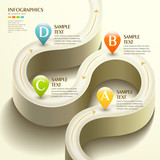 3d abstract flow chart infographics