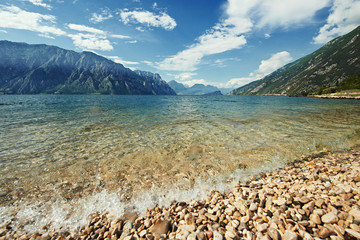 Mountain Garda lake