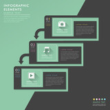 flat style abstract banner infographics