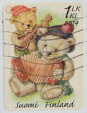 Finland postage stamp shows Teddy bears 2014