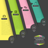 abstract origami paper infographics