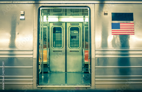 Fotobehang New York Generic underground train - New York CIty