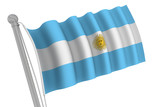 Argentina Flag On Pole