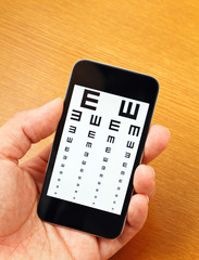 Eyechart on mobile
