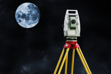 surveying and measuring the moon surface