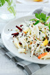 cabbage salad with apple and beetroot