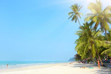 Tropical beach. White sand beach. Koh Chang