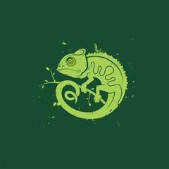 векторный логотип хамелеон