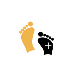 Foot massage or foot care logo
