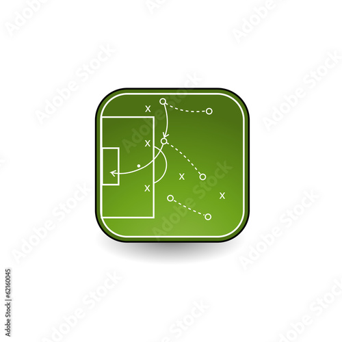 Tactics board icon for soccer
