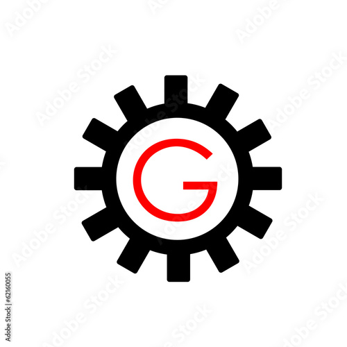 Alphabet G in a gear- Business logo