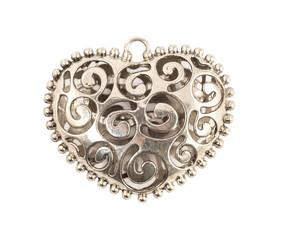 Decorative metal heart