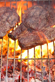 food meat - rib eye beef steak on party summer barbecue grill wi