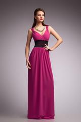 Girl in dress. Beautiful. New fashion.