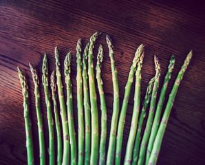 fresh asparagus shoots