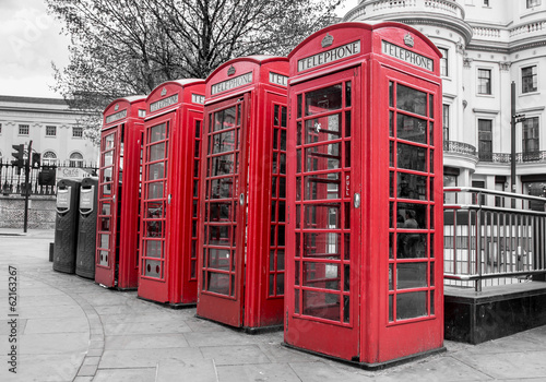 Red Telephone Boxes, Westminster, London - 62163267