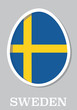 sticker flag of Sweden in form of easter egg