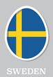 sticker flag of Sweden in form of easter egg