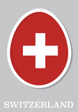 sticker flag of Switzerland in form of easter egg