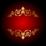 Vector luxury background with gold ornament